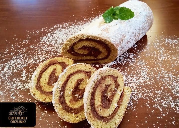 Extra diétás csokis piskótatekercs (gluténmentes, light paleo recept) ~ Éhezésmentes Karcsúság Szafival