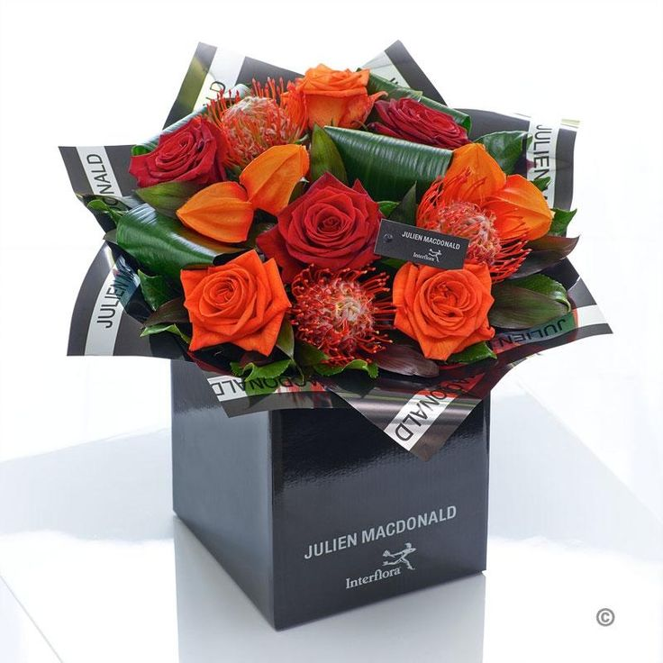 Autumn is a season of glorious colour – from russet and burnt orange to rich, scarlet and red – and this hand-tied bouquet reflects the most vibrant colours in sophisticated style. This is a fresh, contemporary design that is perfect for the style-conscious. They'll want to display it in pride of place straight away.