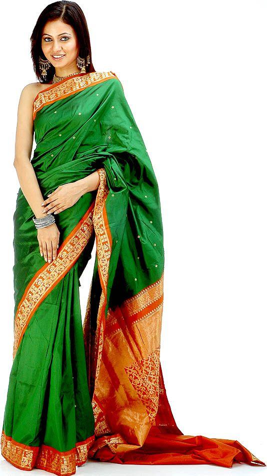24 Best Images About Sari Pics On Pinterest Green Sari