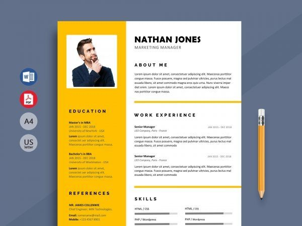Free Resume Cv Templates In Word Format 2019 Resumekraft Cv Template Word Free Cv Template Word Resume Template Word