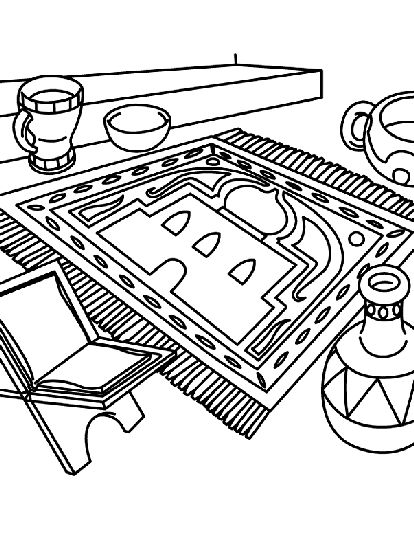 Ready for Ramadan coloring page