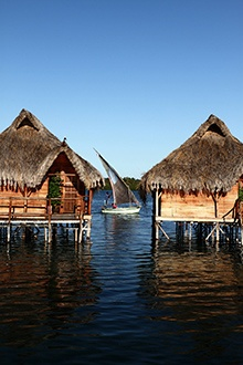 Flamingo Bay Water Lodge in Mozambique