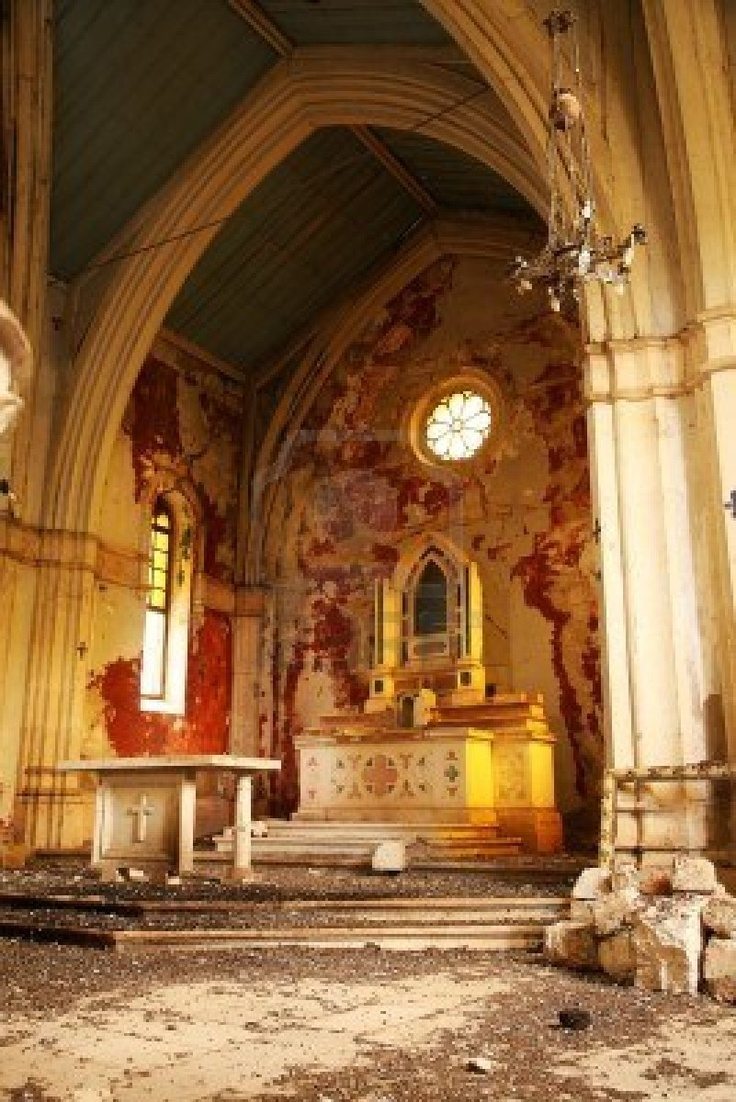 Interior of abandoned church