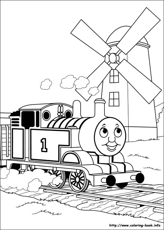 Thomas See Windmill Coloring Pages