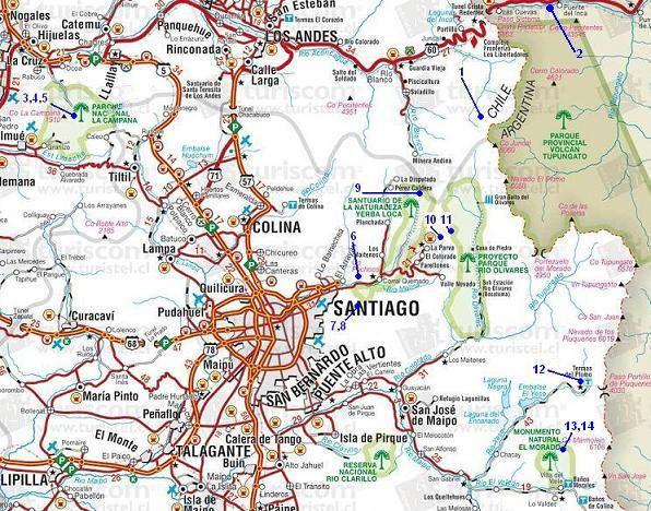 Mapa de santiago chile buscar con google mujeres for Calles de santiago de chile