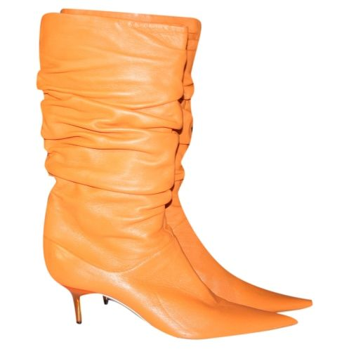 Orange ankle boots by BB
