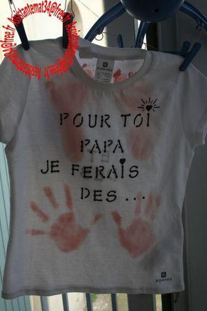 idée cadeau fête des pères par Nounou Corneille :) un tee-shirt personnalisé pour papa