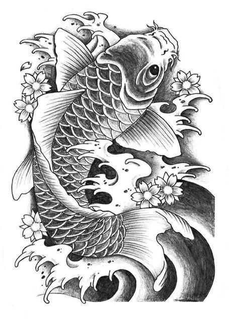 6899b7b8eace3 koi fish tattoo design - Google'da Ara | tattoo skice dizajn | Koi ...