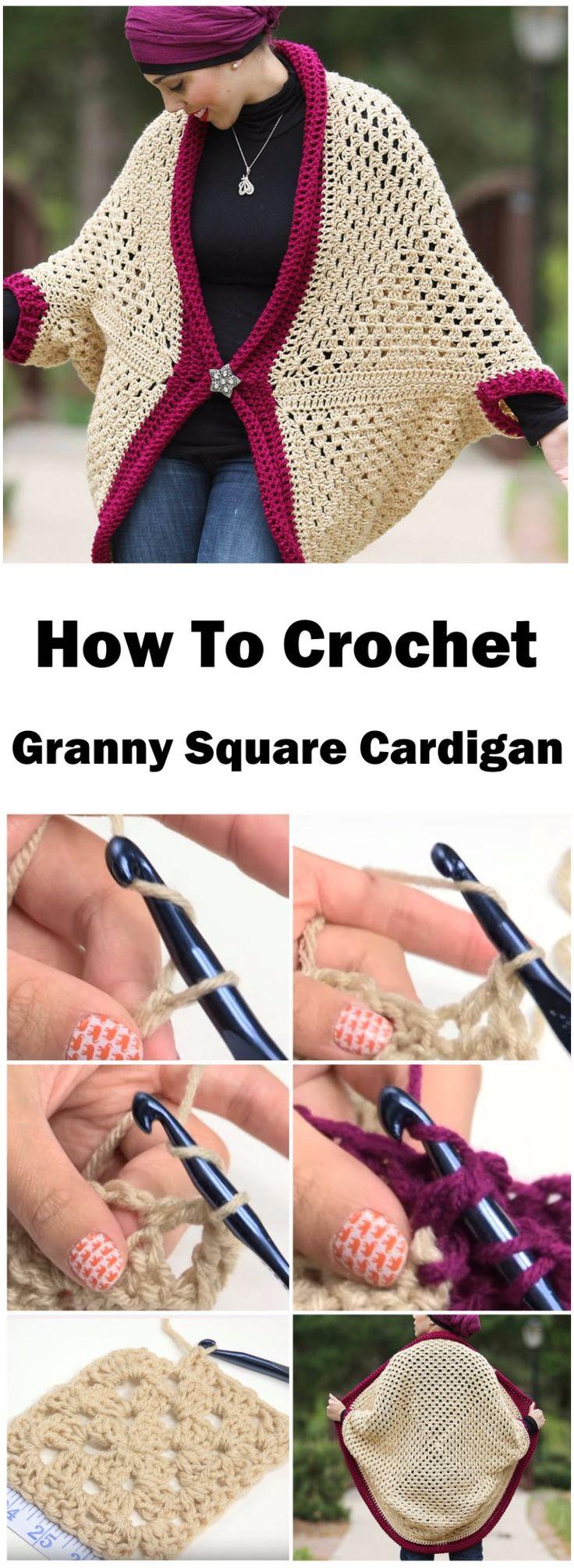 Crochet Granny Square Cardigan