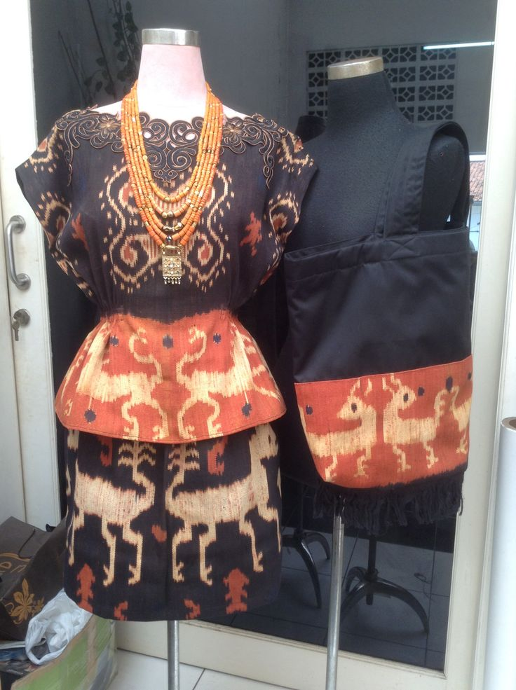 Dress and tote ikat for me
