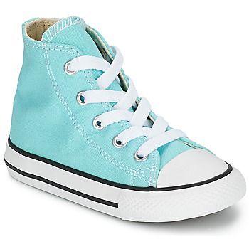 Chuck Taylor All Star SEASON HI Türkis von #Converse. Bis zu 20 % Rabatt: Dieser hohe Sneaker von der Marke Converse ist sowohl komfortabel als auch modisch. Die Kinder werden den Look lieben! #Schuhekinder, #Sneakerkinder, #SneakerConverse, #ConverseSchuhe