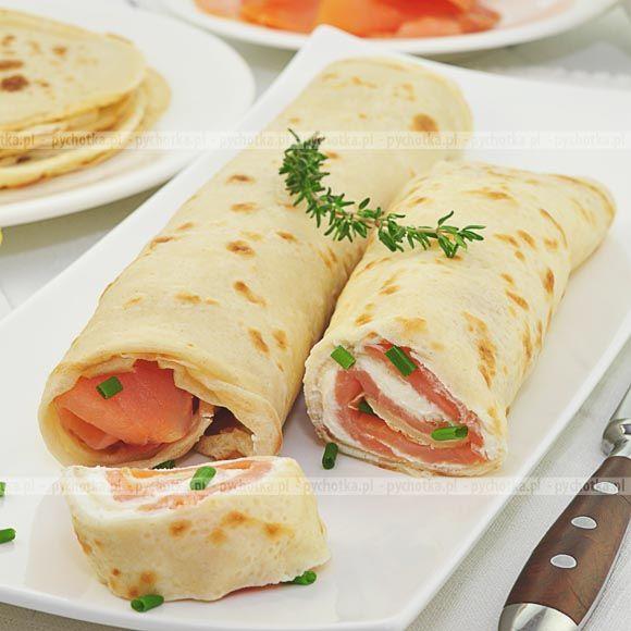 Zdrowe i smaczne przepisy tylko na pychotka.plNaleśniki z serem i wędzonym łososiem. Aby wykonać tą potrawę potrzebujesz:wędzonego łososia, sera, mleka.