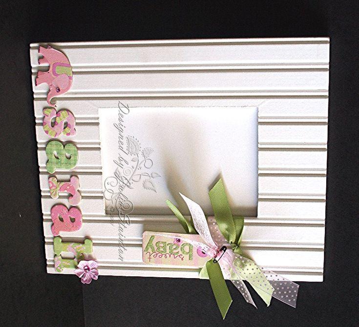 """Bead board """"embellished"""" frame - so cute!"""