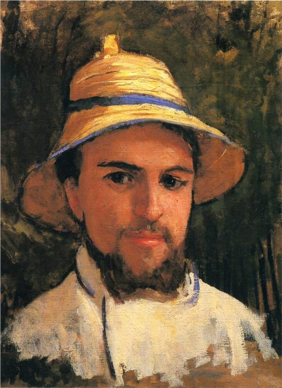 Self-Portrait with Pith Helmet,   Gustave Caillebotte