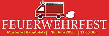 Feuerwehrfest-Werbebanner online gestalten und versandkostenfrei zusenden lassen. #onlinedruckerei #onlineprint #xxl #feuerwehrfest #werbebanner #bannerwerbung