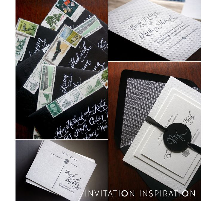 how to address couples on wedding invitations%0A black and white wedding invites