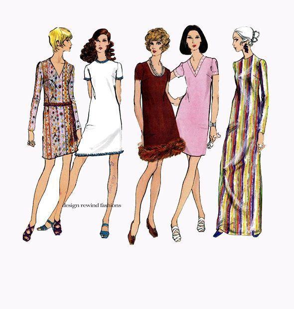 1960s VOGUE DRESS PATTERNS Semi Fitted Cocktail Dresses Maxi Dress Patterns Vogue 2268 Basic Design Size 8 Bust 31.5 Womens Sewing Patterns by DesignRewindFashions on Etsy