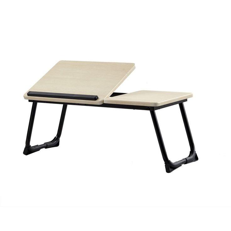 Laptop Desk Stand Foldable Portable Large Size Tilting Lap Desk Bed Tray Beige #FoldableLaptopDeskStand #Modern