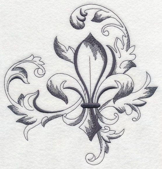 Image result for laurel fleur de lis tattoo                                                                                                                                                                                 More
