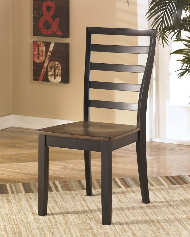 Signature Design By Ashley Alonzo Two Tone Brown Dining Room Side Chair Set Of