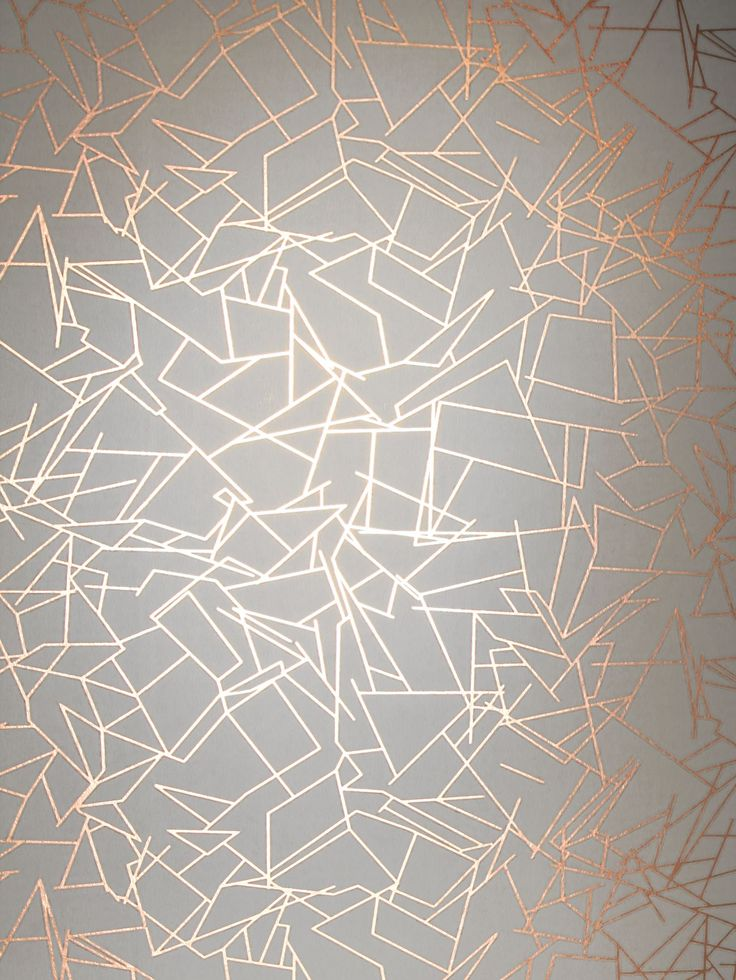 Angles Copper Rose / White wallpaper by Erica Wakerly
