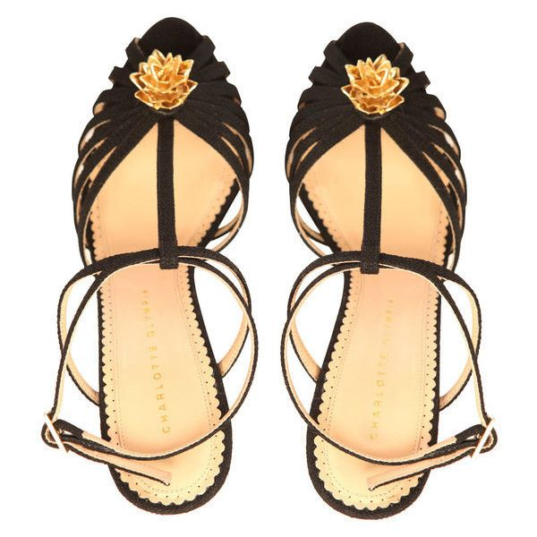 Charlotte Olympia - Rio Sandals | Lyst ❤ liked on Polyvore featuring shoes, sandals, heels, sapatos, scarpe, charlotte olympia, heeled sandals, charlotte olympia sandals and charlotte olympia shoes