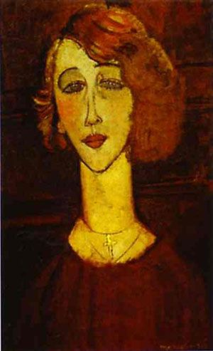 Renee is a painting in oil on canvas (61 x38 cm) made in 1917 by the Italian painter Amedeo Modigliani .  'exhibited at the Art Museum of São Paulo in Brazil .