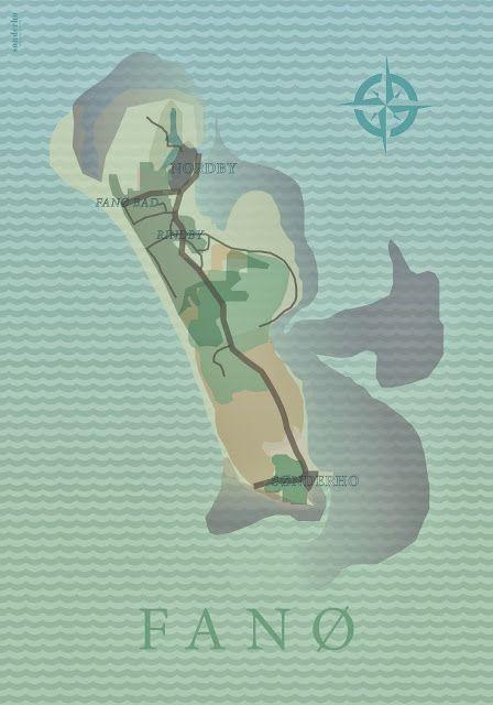 Fanø Poster by Ditte Maigaard Studio for Sønderho. www.sonderho.com