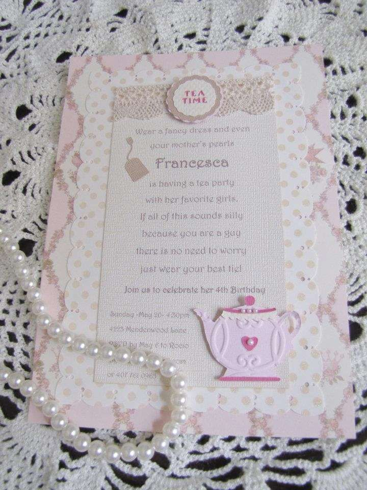 Best 25+ Tea party invitations ideas on Pinterest | Tea party ...