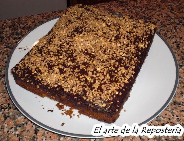 Bizcocho mármol con chocolate y crocante
