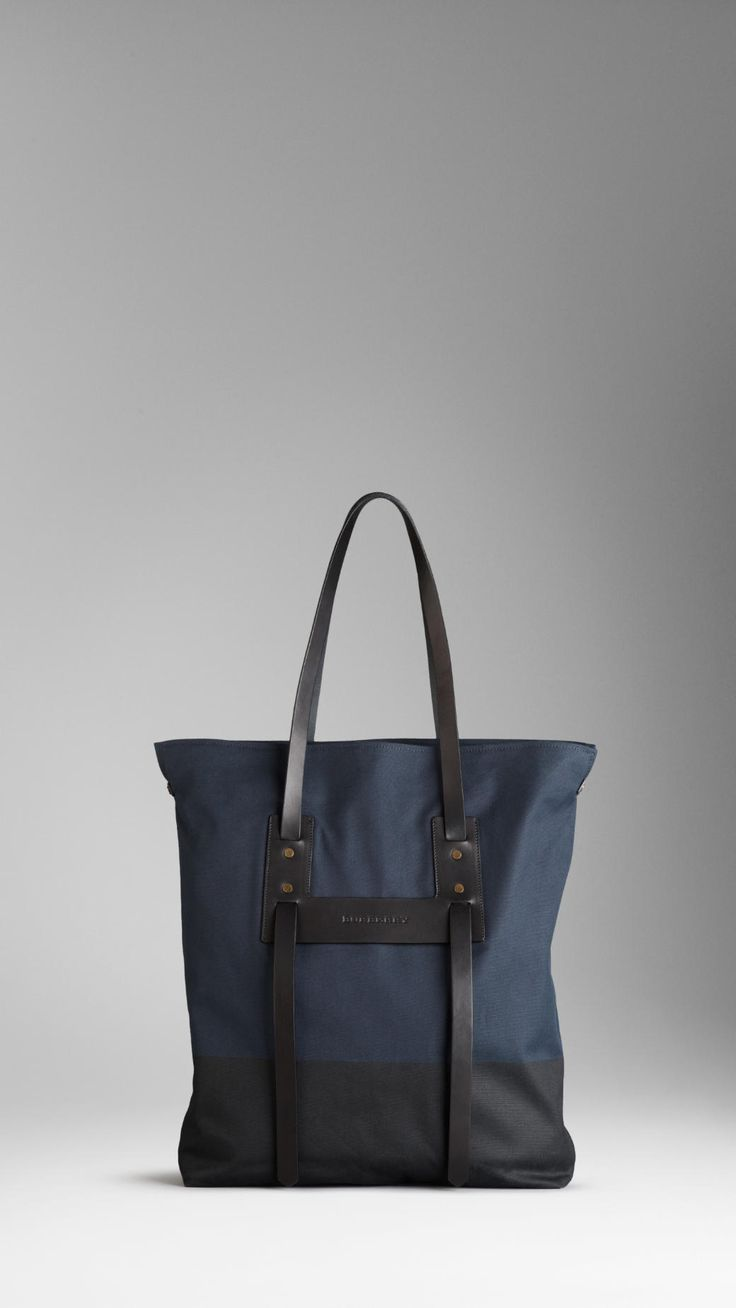 Burberry mens canvas tote bag