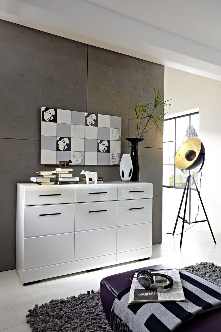 53 best wei e hochglanz sideboards images on pinterest cabinets closet storage and woody. Black Bedroom Furniture Sets. Home Design Ideas