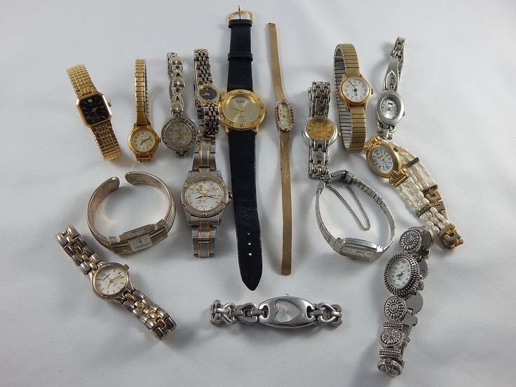 Modern Vintage Womens Fossil Lorus Pulsar Quartz Wrist Watches Lot Of 16 Repair #FossilPulsarTimexLorus