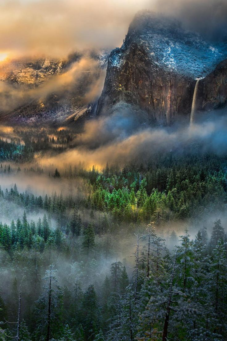 "Serpentine vapors at Yosemite (by William Toti) """