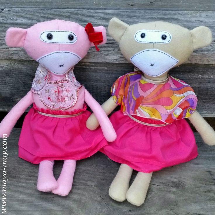 Meet our new plush friends BONNIE & SAMANTHA by MM KIDDO!. |Price: AUD20.00/set or AUD18.00/single |www.maya-may.com |Enquiries: mayamay24@gmail.com. Text : Angela +61413504255 (Australia) #dolls #plushies #felt #handmade #kids #toys #gifts