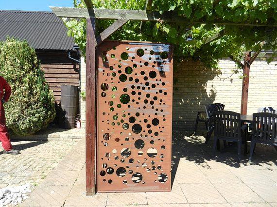 Rusty Metal Privacy Screen / Rusty Metal Panel / Rustic ...