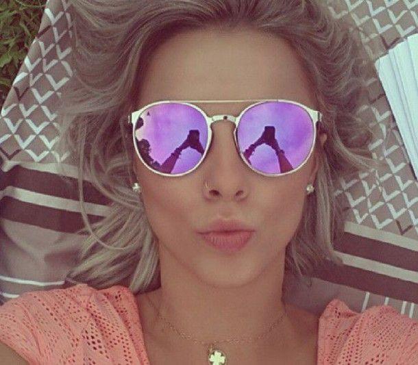 Sunglasses: sunnies, pink sunglasses, round sunglasses, round ...
