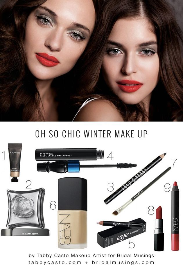Oh So Chic Winter Make Up Tutorial: Silver Eyes & Ruby Lips | Bridal Musings Wedding BlogBridal Musings Wedding Blog