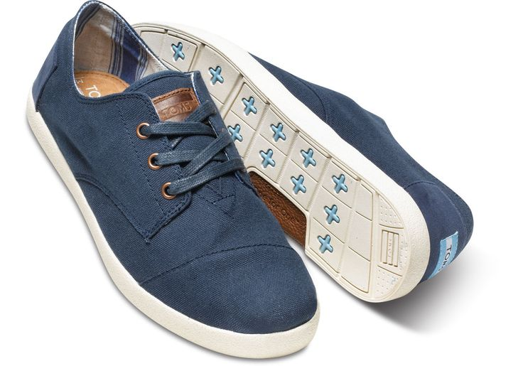Navy Canvas Men's Paseos | TOMS