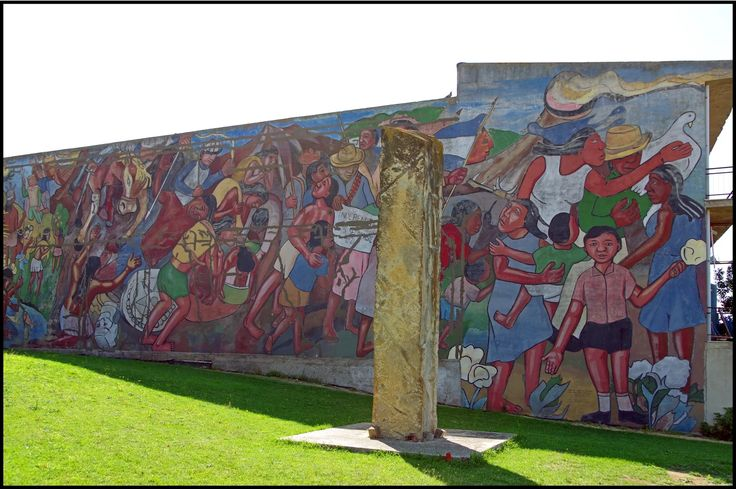 rOberto foto-Independencia Murale realizzato dal Servizio Civile Internazionale con la direzione artistica di L. Cerrato J. Dichiarazione di Indipendenza delle Province Unite dell'America Centrale dall'Impero Messicano, 1821 ______________________________________ Serrenti (Serrènti) - Sardegna, pr. Sud Sardegna, reg. st. Nuraminis