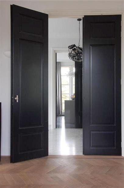 Best 25 grey interior doors ideas on pinterest grey doors dark interior doors and interior door for Best black paint for interior doors