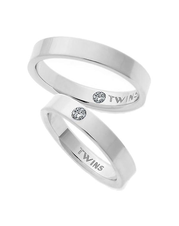Pareja de Alianzas Oro Blanco Twins Evolution 4mm - Mujer - Joyería - El Corte Inglés - Moda