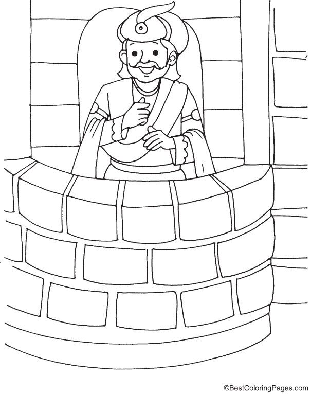 Akbar The Great Coloring Page Coloring Pages