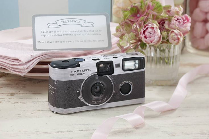 Ideal for Weddings or parties to leave on the tables for your guest to take pictures and leave for you to develop. This vintage style single use disposable camera will add a touch of style to any wedding table. The camera takes 27 shots, has a flash and is very simple to use. Place one camera on each table and allow your guests to capture special moments for you. Comes with free table card.  £3.50