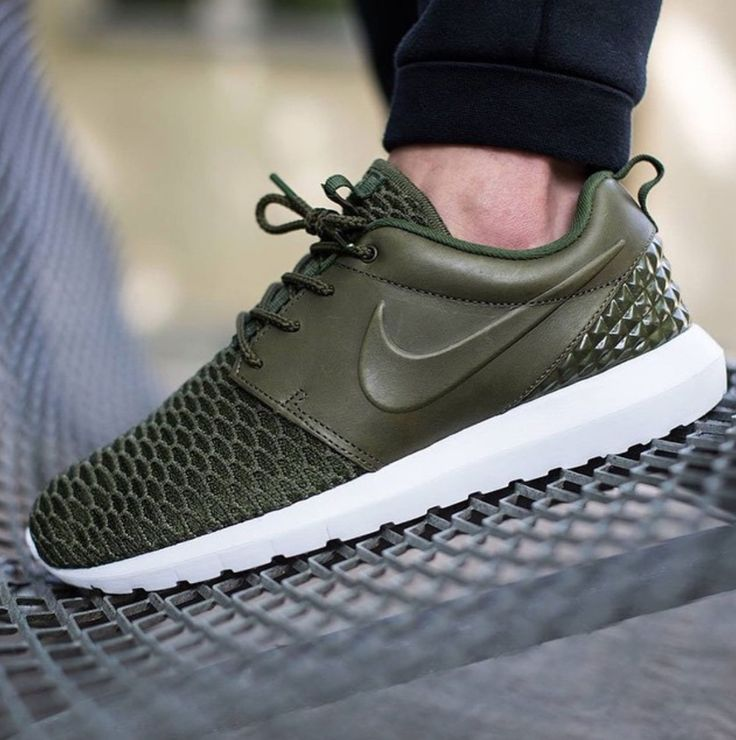 Nike Roshe One Flyknit Premium Rough Green/Black-Sequoia: The immensely  popular Roshe One silhouette gets another color update for the summer.