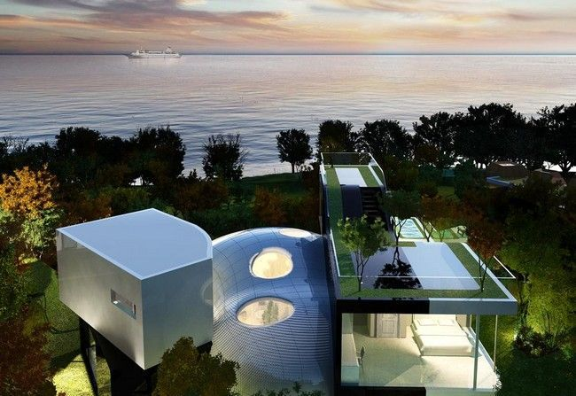 Jeju Cocoon House by Planning Korea