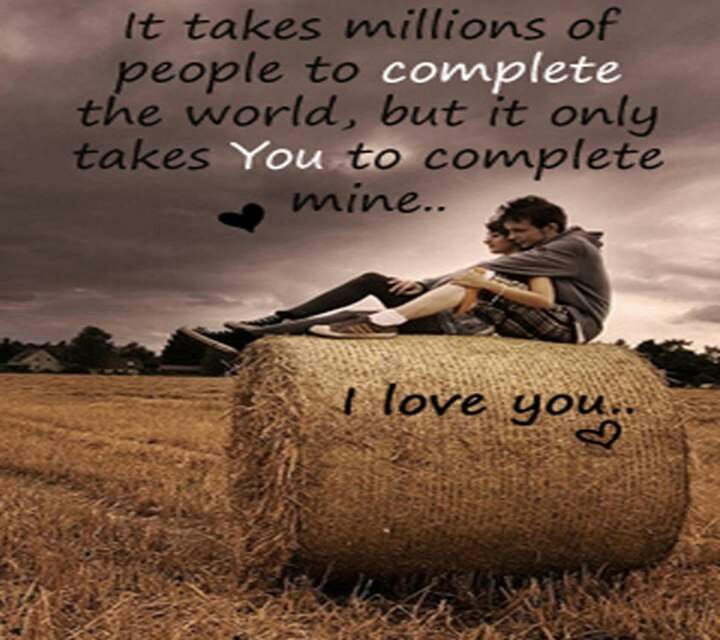 You And Me Love Quotes : You complete me Quotes Pinterest Love, Love you and I love you