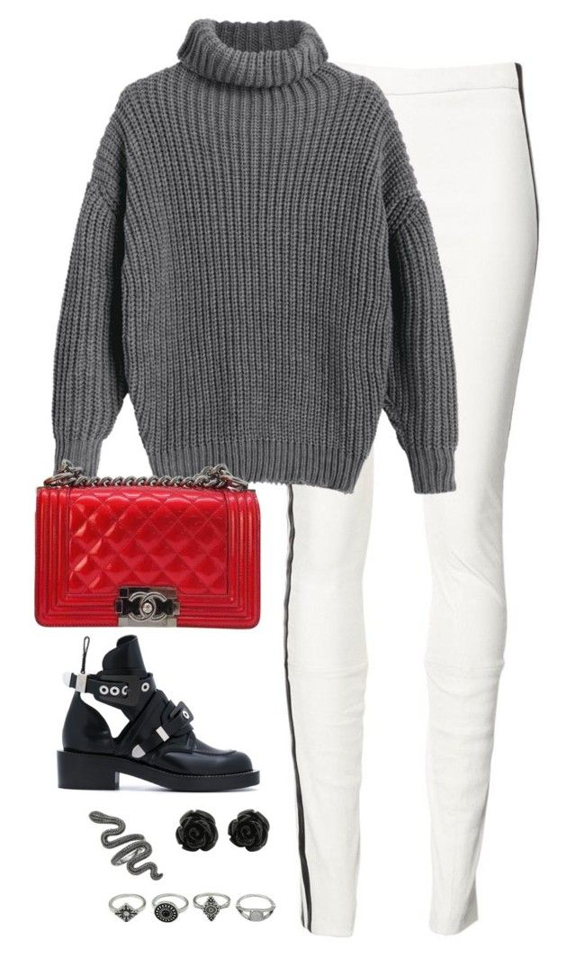 """""""Untitled #4568"""" by magsmccray on Polyvore featuring Haider Ackermann, Chanel and Balenciaga"""