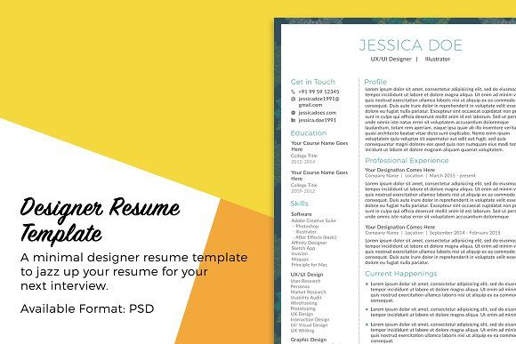 Mage The Resume Examples | Designer Resume Template Resumes Best Resume Templates