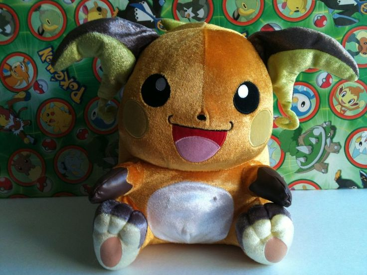 Pokemon Plush Shiny Raichu 2008 DX UFO doll stuffed figure Toy pikachu pichu evo #Banpresto